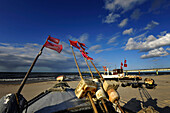 Fishing boats at beach, Koserow, Usedom, Mecklenburg-Western Pomerania, Germany
