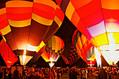 Night glow at the annual Balloon Classic (September), Colorado Springs, Colorado, USA, North America, America