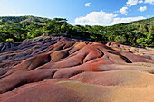 Seven-colours ground, Chamarel, Mauritius, Africa