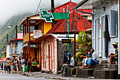 People in a street, Hell-Bourg, La Reunion, Indian Ocean