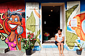Hair salon in Saint Leu, La Reunion, Indian Ocean