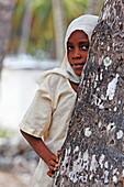 Muslim girl, Jambiani, Zanzibar, Tanzania, Africa