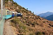 Train Traveling Through Countryside, Dharampur, Himachal Pradesh, India