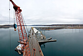 Orange Construction Crane, Vantage, WA, US