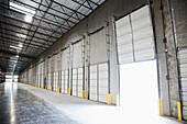 Open Warehouse Bay Door, Sumner, Washington, USA