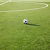 Soccer Ball on Soccer Field, Tukwila, Washington, USA