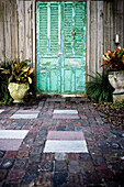 Weathered Green Door, St. Augustine, Florida, USA