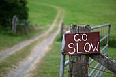 Rustic Sign Near Rural Road, Snohomish, WA, U.S.