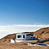 Boat in the Desert, Niland, California, USA