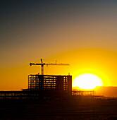 Building Construction at Sunset, Phoenix, Arizona, USA