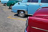 Parked Vintage American Cars, Havana, Cuba