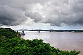Mississippi River in Full Flood, Natchez, Mississippi, USA