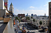 Hightened view of Hollywood Boulevard, Hollywood, Los Angeles, California, USA, America