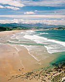 Beach at Playa de Merón, near San Vicente de la Barquera, Parque Natural de Oyambre, western Cantabria, Spain