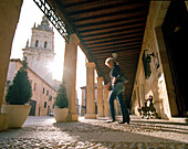 Arcades near the cathedral El Burgo de Osma, Castile and León, Spain