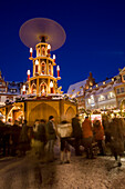 Christmas market in market square, Coburg, Franconia, Bavaria, Germany