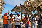 Son Musicians at Playa del Este, Santa Maria Del Mar, near Havanna, Cuba, Greater Antilles, Antilles, Carribean, West Indies, Central America, North America, America