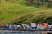 Das Dorf Crovie, Aberdeenshire, Schottland