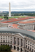 View from the old post office building to Washington Monument, Washington, District of Columbia, United States of America, USA