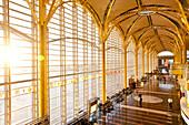 Departure hall, Ronald Reagan Washington National Airport in the morning light, Arlington County, Virginia, United States of America, USA