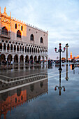 St Mark's square in the rain, Piazza San Marco, Venice, Italy