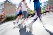 Marathon runners, Freiburg im Breisgau, Baden-Wurttemberg, Germany