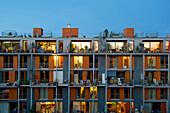 Passive house, Vauban quarter, Freiburg im Breisgau, Baden-Wurttemberg, Germany