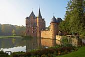 Satzvey castle in Schaven Satzvey, Northern part of Eifel, North Rhine-Westphalia, Germany, Europe