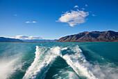 Passage to the glaciers at Lago Argentino, Los Glaciares National Park, near El Calafate, Patagonia, Argentina