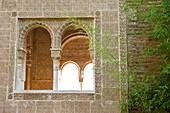 Detail des Palacio de Generalife, Alhambra, Granada, Andalusien, Spanien, Europa