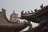 The Giant Wild Goose Pagoda Da Yanta near Xi'an, Shaanxi Province, People's Republic of China