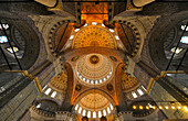 Vault inside Yeni Valide Camii mosque, Istanbul, Turkey, Europe