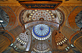 Vault inside of the Blue Mosque, Istanbul, Turkey, Europe