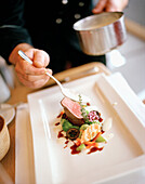 Dinner getting served, Bregenz, Vorarlberg, Austria