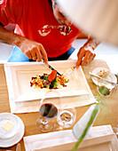 Lunch, Hotel Post Bezau, Bregenz, Vorarlberg, Austria