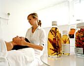 Facial treatment, Susanne Kaufmann Kosmetik, Susanne Kaufmann Spa, Hotel Post Bezau, Bregenz, Vorarlberg, Austria