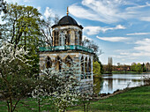 Gothic library at lake Heiliger See, New Garden, Potsdam, Brandenburg, Germany, Europe