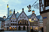 Facade of the Roemer, Town hall, City hall, Frankfurt on the Main, Hesse, Germany