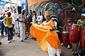 Afro-Cuban musicians performing at Sunday afternoon rumba at Callejon de Hamel, City of Havana, Havana, Cuba