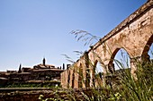 7 to 12 months, 7-12 months, Arcade, Arches, Blue, Charterhouse, Christianity, Historical, Monastery, Monks, Nature, Plants, Portaceli, Religion, Serra, Spain, Valencia, Vegetation, XE3-1046244, agefotostock