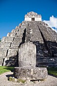 Temple I also known as Temple of the Great Jaguar, Great Plaza, Tikal, El Peten department, Guatemala