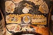 Scene of the Last Judgement fresco inside Chora Museum, also known as Kariye Muzesi, Edirnekapi, Istanbul, Turkey
