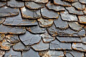 Boi, Catalonia, old, Pyrenees, Romanesque, Romanic, roof, slate, Spain, texture, village, XJ3-1181783, AGEFOTOSTOCK