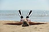 Beach, Holiday, Italia, Lignano, Pineta, Sabbiadoro, Summer, Travel, Udine, XJ9-1037026, agefotostock