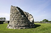 remains of round tower nendrum monastery historic monument, county down, northern ireland