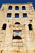 ruin of the byzantine church of Mshabak, Mushabbak, near Aleppo, Dead Cities, Syria, Middle East, West Asia