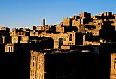 Asia, Yemen, Thula, Himyarite period, the town is very well preserved and includes traditional houses and mosques, stone houses view