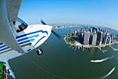 172, Aerial, Aeroplane, Air, Aircraft, Airplane, Airspace, Battery park, C172, Cessna, City, Cityscape, East, Financial district, Fish eye, Flying, Hudson, In air, Landmark, Landscape, Large angle, Light, Manhattan, New york, Nyc, Over, Peninsula, Plane,