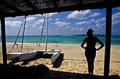 Nautical base on Sal Rei beach. Boa Vista island, Archipelago of Cape Verde Islands