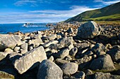 New Zealand, Southland, Cosy Nook Cosy Nook, a picturesque craggy cove that shelters several fishing boats & holiday cribs